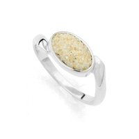 *Neu* DUR Schmuck Ring *Strandsand* oval Silber 925/- rhodiniert (R4878)