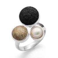"""DUR Schmuck Ring """"Treibsand"""" Silber 925/- Größe verstellbar (R4643)"""