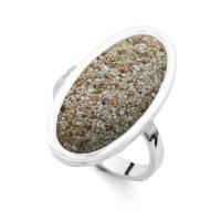 *Neu* DUR Schmuck Ring SANDBANK Strandsand, Silber 925/- (R4789)