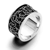"""DUR Schmuck Ring """"Twist"""" Silber 925/- oxidiert (R4611)"""