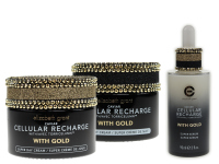 ELIZABETH GRANT CAVIAR Cellular Recharge Super Nachtcreme mit Gold (100ml) + Tagescreme (100ml) + Serum (90ml)