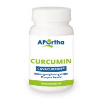 *Neu+hochdosiert* APOrtha® CAVACURMIN® Curcumin - 90 vegane Kurkuma Kapseln
