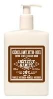 Institut Karité Handwaschlotion Bourbon Vanilla (500ml) im Spender - mit 25% Sheabutter