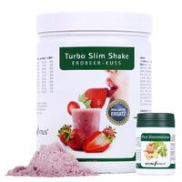 Natura Vitalis Turbo Slim Shake Erdbeer Kuss 560g + Glucomannan (MHD 12/2018)