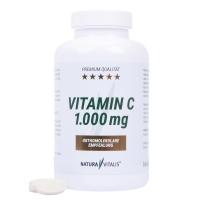*Angebot 5: Hochdosiert* Natura Vitalis Vitamin C (1000mg) 200 Presslinge