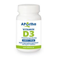 NordHit / Aportha Vitamin D3 Depot 5.600 I.E - 140 µg-120 Tabletten Familienpackung