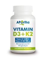 Nordhit / Aportha Vitamin K2 200 µg + D3 10.000 i.E - 120 Kapseln