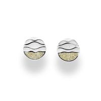 DUR Schmuck Ohrring *'Ebbe und Flut* Strandsand, Silber 925/-rhodiniert (O4915)