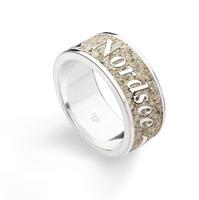 DUR Schmuck Ring *Nordsee* Strandsand, Silber 925/- rhodiniert (R4588)