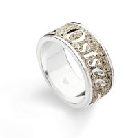 DUR Schmuck Ring *Ostsee* Strandsand, Silber 925/- rhodiniert (R4589)