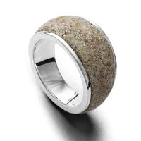 DUR Schmuck Bandring Strandsand, Silber 925/- (R4618)